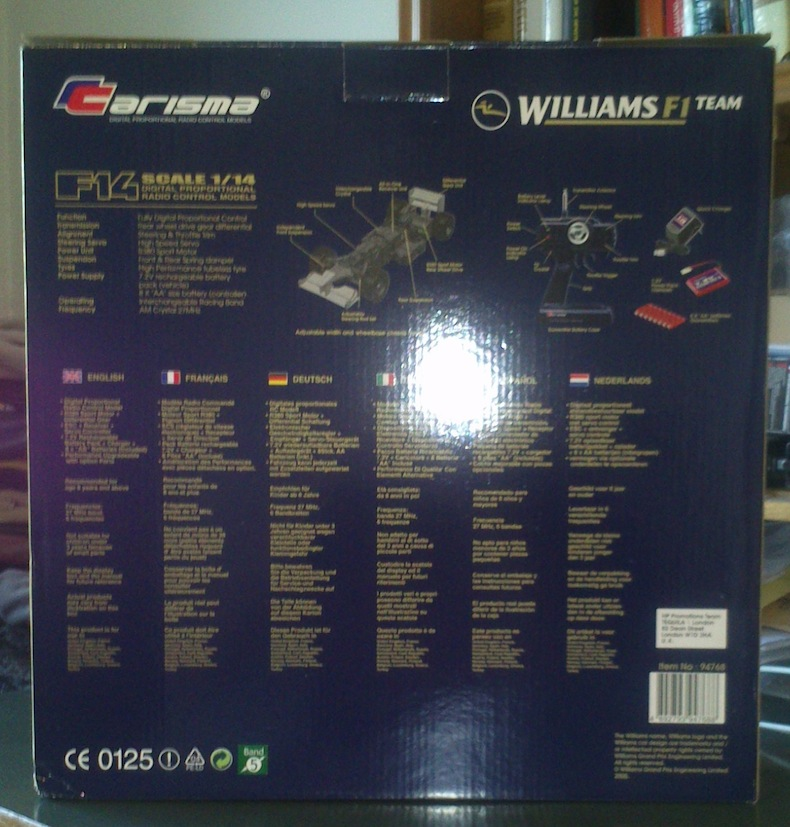 Macchina telecomandata Williams F1 Carisma (NUOVA) Macchi12