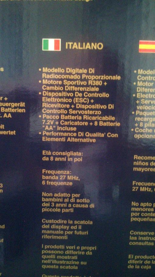 Macchina telecomandata Williams F1 Carisma (NUOVA) Macchi14