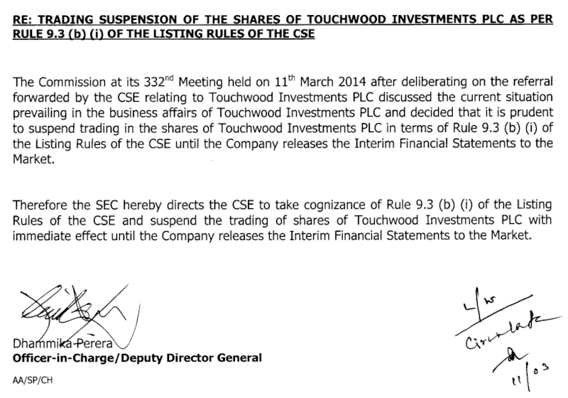 Touchwood PLC - Possible Recovery Idea Screen39