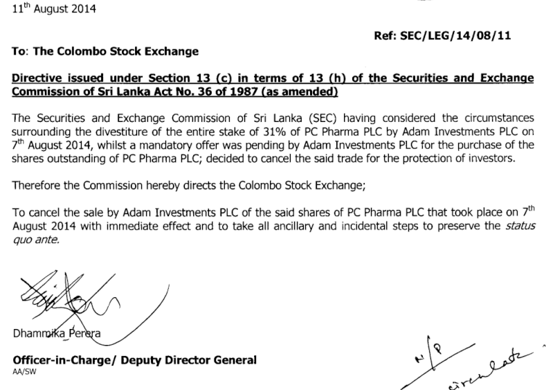 SEC reverse PCP Transaction by AINV Screen62