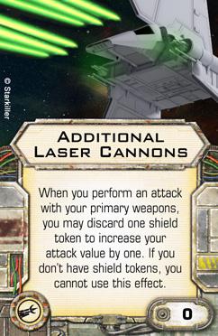 Ausrüstungskarte für Kanonenplätze: Zusätzliche Laserkanonen Upgrad10