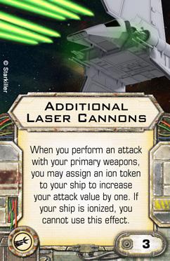 Ausrüstungskarte für Kanonenplätze: Zusätzliche Laserkanonen Upgrad11