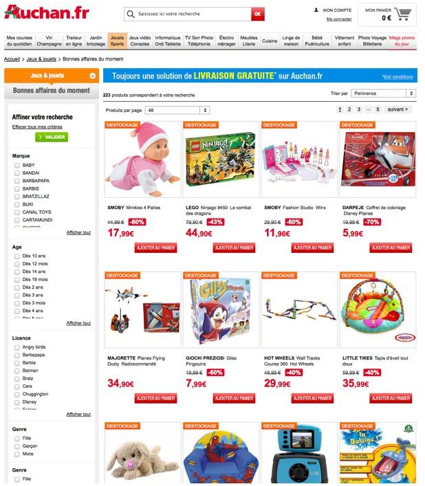 Auchan promos jouets P210