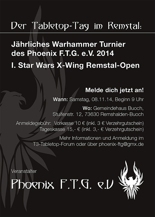 [Schorndorf] regelmäßiger Spieletreff im Phoenix F.T.G. Phoeni13