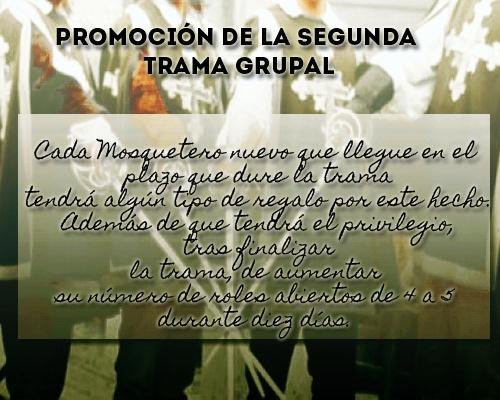 SEGUNDA TRAMA GRUPAL - EL DÍA DEL MOSQUETERO Promoc11