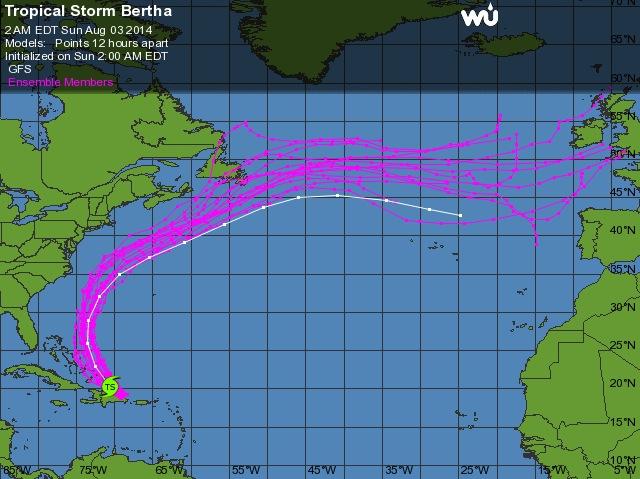 Le retour d'El Niño cet été ? Bertha10