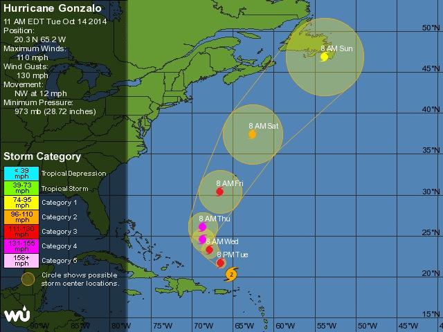 Cyclone GONZALO sur les îles du Nord des Antilles Captur17
