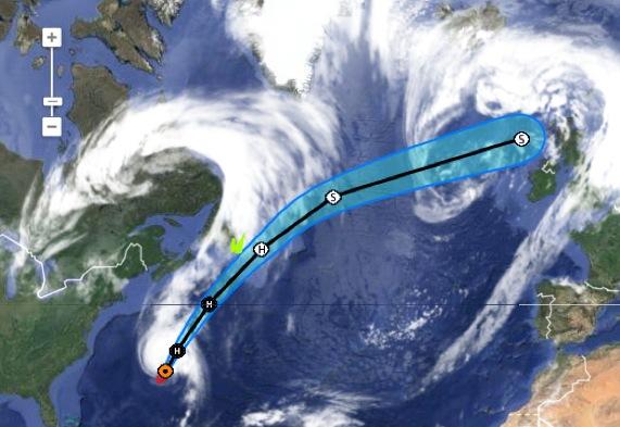 Cyclone GONZALO sur les îles du Nord des Antilles Captur19