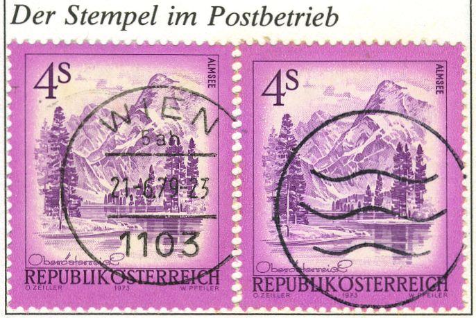 Die Dreiwellenstempel / Österreich Entwer10