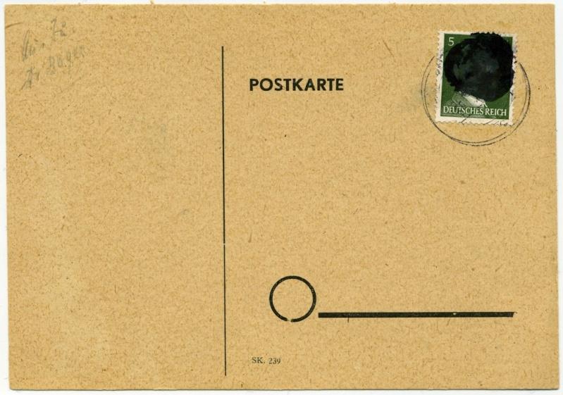 Sächsische Schwärzungen -Sowjetische Besatzungszone- Postka10