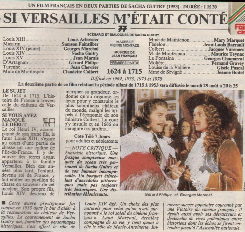 Si Versailles m'était conté (Lana Marconi), réalisé par Sacha Guitry en 1953 - Page 2 0611