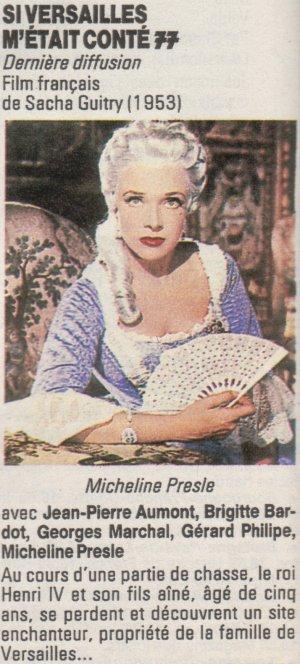 Si Versailles m'était conté (Lana Marconi), réalisé par Sacha Guitry en 1953 - Page 2 0710