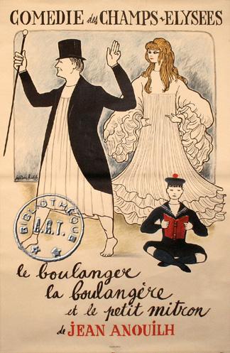 """La Reine Marie-Antoinette dans """"le Boulanger, la Boulangère et le Petit Mitron"""" de Jean Anouilh 1910"""
