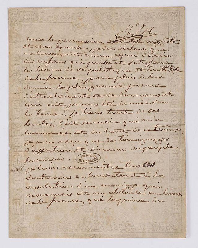 Lettres de Joséphine, Bonaparte puis impératrice 640px-13