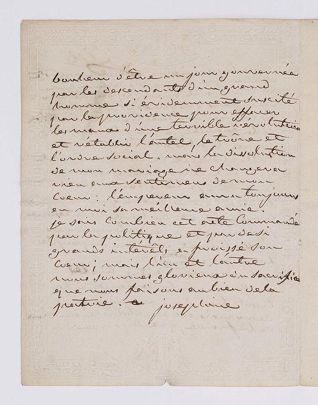 Lettres de Joséphine, Bonaparte puis impératrice 640px-14