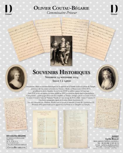Vente de Souvenirs Historiques - aux enchères plusieurs reliques de la Reine Marie-Antoinette Cache_10