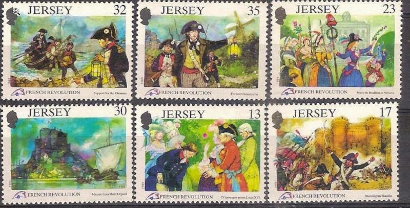 Marie-Antoinette, la Famille Royale et la Révolution en timbres-postes Jersey10