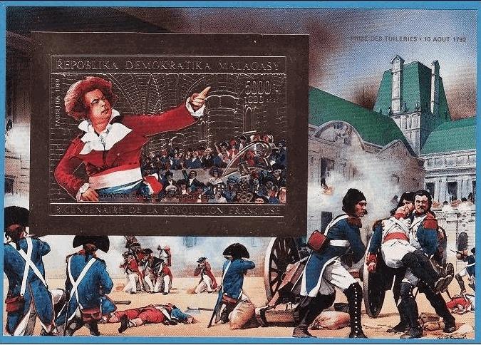 Marie-Antoinette, la Famille Royale et la Révolution en timbres-postes Madaga10