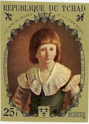 Marie-Antoinette, la Famille Royale et la Révolution en timbres-postes Tchadl10