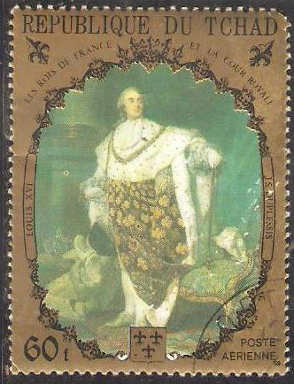 Marie-Antoinette, la Famille Royale et la Révolution en timbres-postes Tchadl12