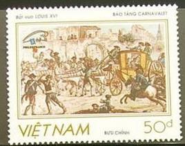 Marie-Antoinette, la Famille Royale et la Révolution en timbres-postes Vietna10