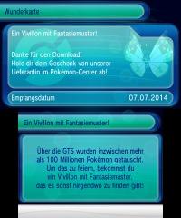 100. Millionen sind erreicht! Fantasie-Muster Vivlion erhältlich. 20140712