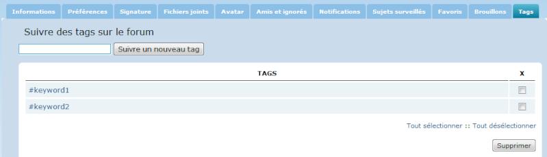 Nouvelles fonctionnalités: Le tag des utilisateurs @ et des mots-clés # 11-09-10