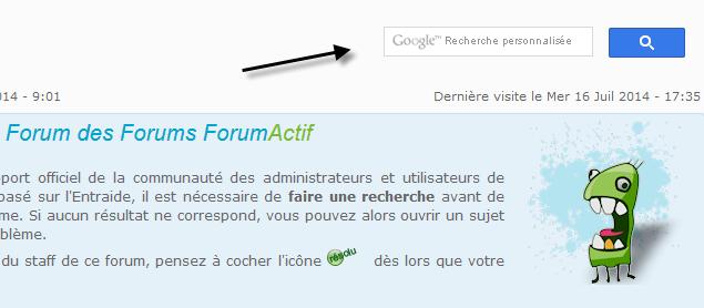 Ajouter une barre de recherche Google à votre forum 17-07-10