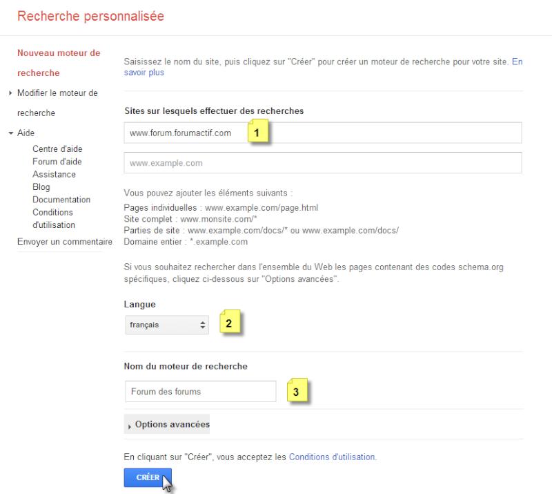 Ajouter une barre de recherche Google à votre forum Recher13