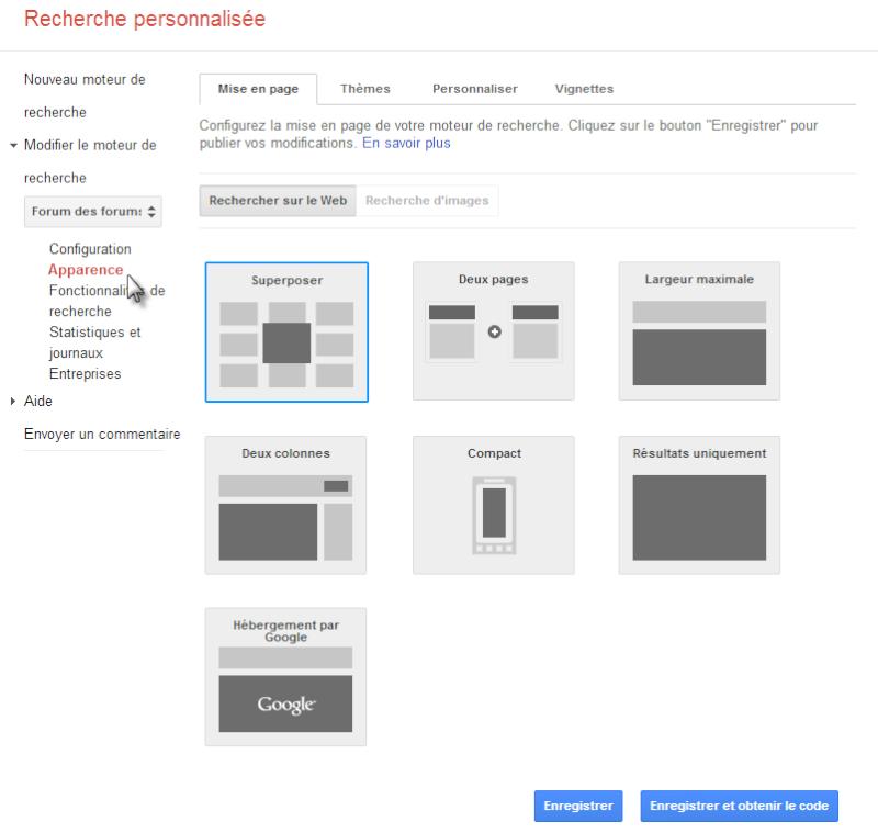 Ajouter une barre de recherche Google à votre forum Recher15