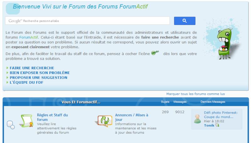 Ajouter une barre de recherche Google à votre forum Recher17