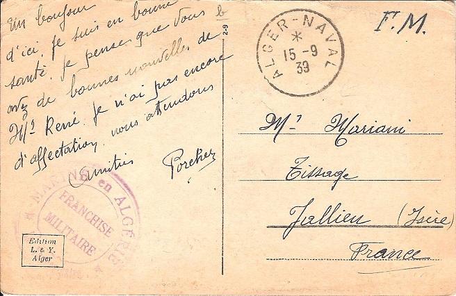 Bureau Naval N° 22 d'Alger Alger_12