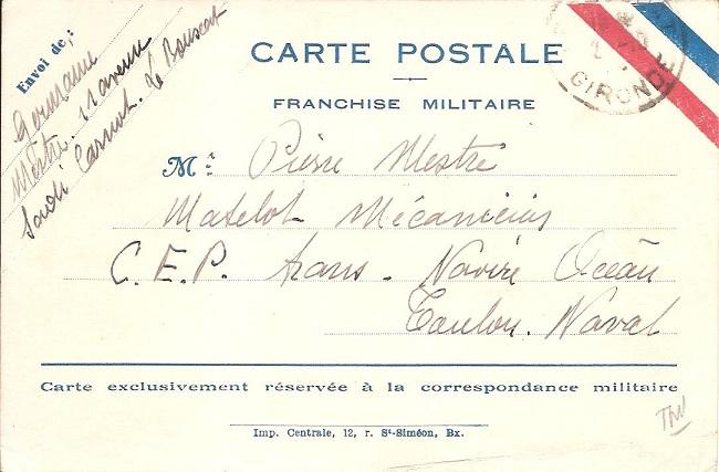 Bureau Naval N° 25 de Bordeaux Bordea11