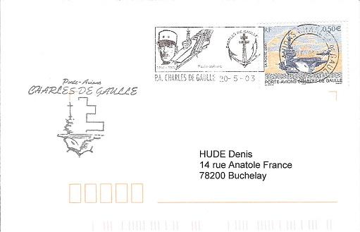 cachet illustrés, griffes, commémoration De_gau14