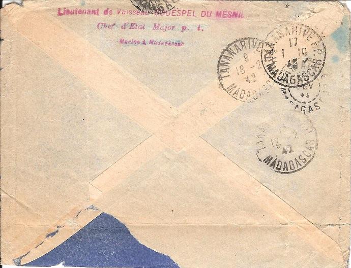 Bureau Postal Naval Temporaire N° 34 de Diego-Suarez Diego-11