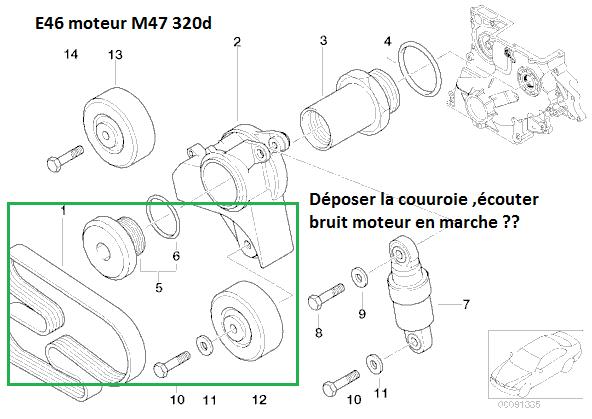 [ BMW E46 320D M47 an 2001 ] Claquement moteur 11_m4710