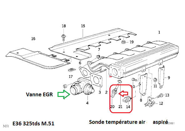 bmw e36 325 tds m51 an 1994   probleme refroidissement moteur  r u00e9solu