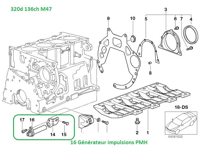 [ BMW e46 320d M47an 1998 ] Emplacement du capteur pmh 13_e4610
