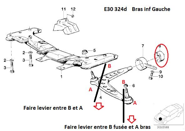 [ BMW E30 324D an 1990 ] Bruit de frottement / claquement au braquage 31_sup10