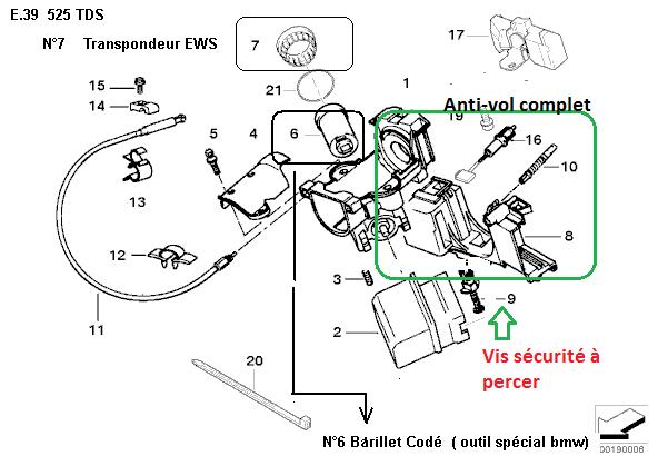 [ BMW E39 525 tds M51 an 1996 ] plus d'autoradio suite a problème électrique  32_con10