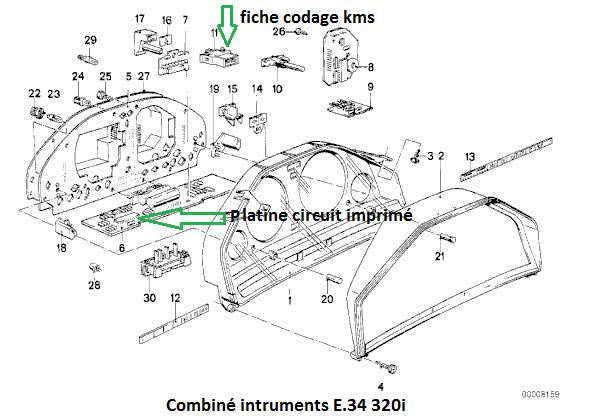 [ BMW E30 320i an 1987 ] Compteur kilométrique et journalier HS mais Compteur de vitesse OK 62_e_310