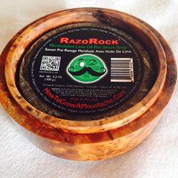 Revue du savon avant rasage Razorock / HTGAM Mentholated Lime B210