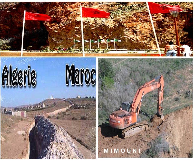 الجزائر تخندق الحدود والمغرب يسيج  Front110