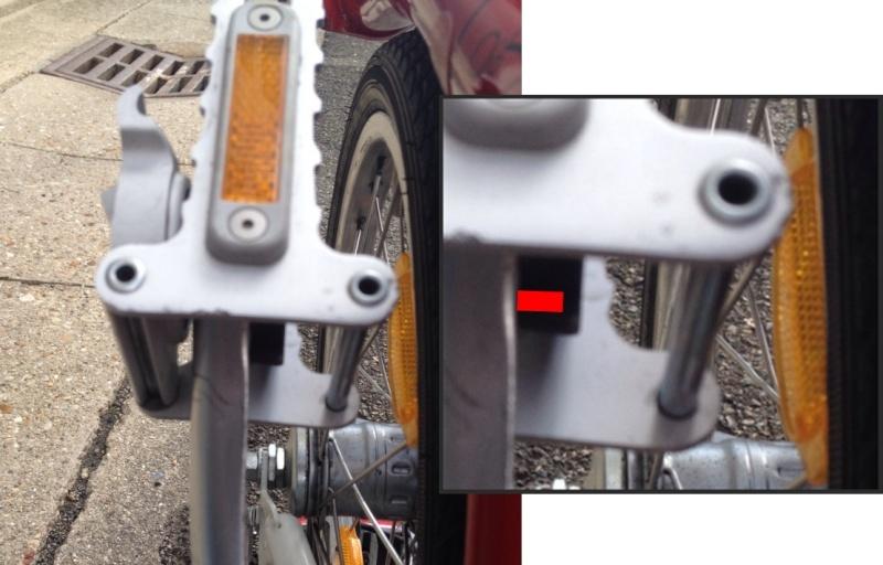 Accident : casse de la pédale pliante : chute et casse du coude droit [pièce d'usure] Vis10