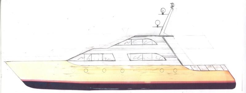 Fantasie-Luxusyacht Eigenbau Rumpfa10