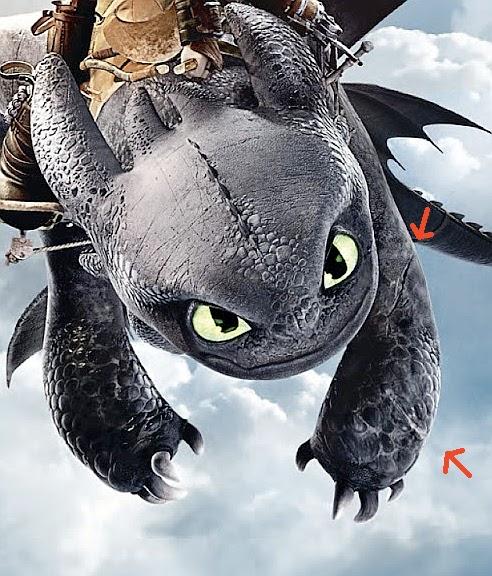 Les détails dans les films Dragons et la série tv... - Page 2 Cicatr10