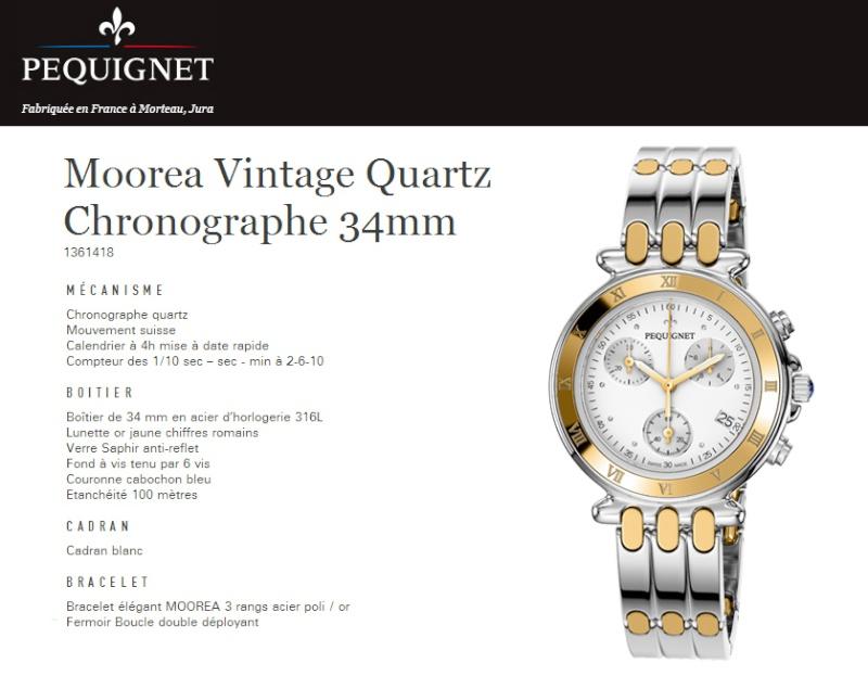 Pequignet Moorea vintage Montre11