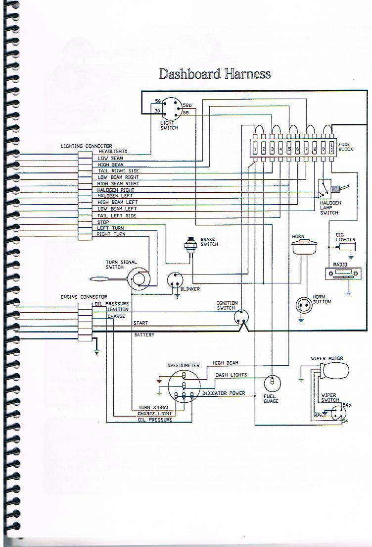 Le faisceau éléctrique d'un buggy Faisce11