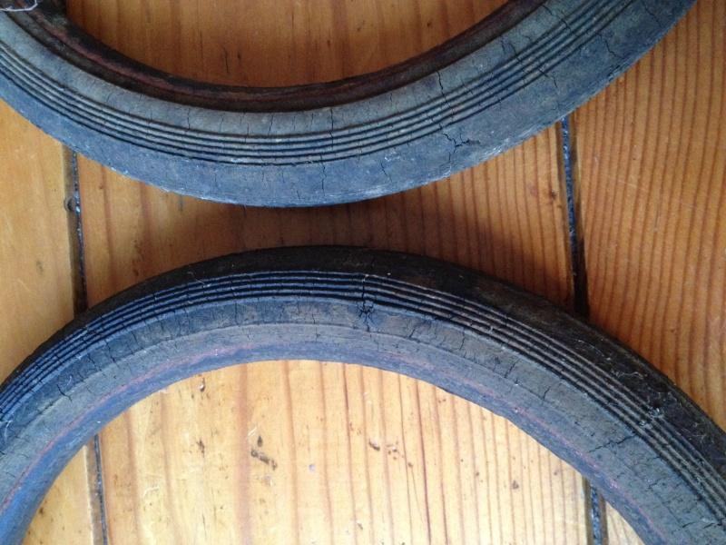 restauration de vieux pneux d'un petit chariot Photo_14