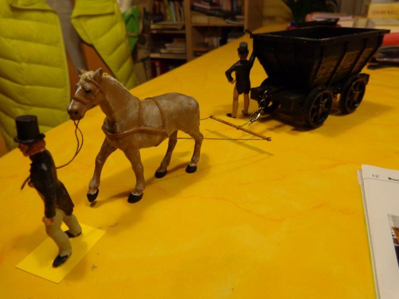 Pferdebahn mit Fischbauchgleis für Kohlenlore 1:32 Dsc01523